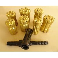 Quality T38 T45 T51 Tungsten Carbide Drill Bits With Spherical / Ballistic Buttons for sale