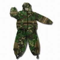 Quality Children's Rain Suit with Camouflage Rotary Printing for sale