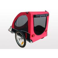 Buy Plastic floor with D-ring corrosion resistant rim Bicycle Pet / Dog Trailer at wholesale prices