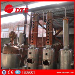 Quality DYE Stainless Steel Ethyl Copper Distiller Alcohol Distillery Equipment for sale
