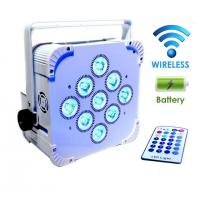 Quality White Shell 9PCS 18W Battery Wireless Led Par Lights With RGBW 6in1 Dmx Control for sale