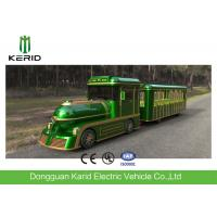 Quality 42 Person Electric Trackless Train With DC Motor For Amusements Park Playground for sale