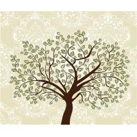 Quality Tree Bamboo Fiber 3D Decorative Wall Panels Embossed Surface For Entertainment for sale
