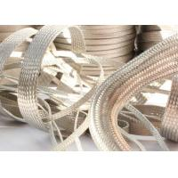 Quality Strong Metal Tinned Copper Braided Sleeving Clear Cut For Cable Shielding for sale