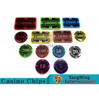 Quality 12g Bright Color Crystal Acrylic Poker Chips High Wear Resistance for sale