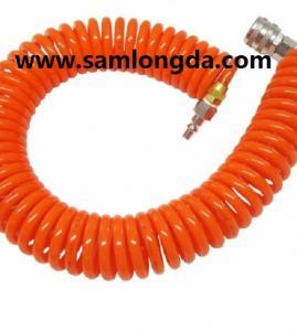 Quality PU spiral hose with good quality, air hose,PU coil tube, PU hose, polyurethane hose,PUC1208, Color as request for sale