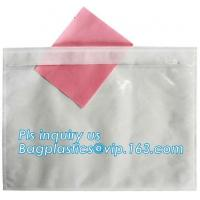 China big size poly packing list envelop with pocket, PACKING LIST ENCLOSED FOR MAILING BAGS, SELF ADHESIVE PACKING LIST FLAT on sale