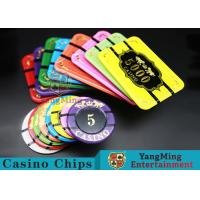 Quality Crystal Acrylic Tiger Image Casino Poker Chips Round 40 / 45 / 50mm for sale