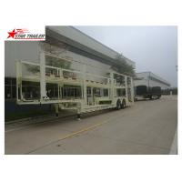 China Auto Transportation Car Carrier Trailer 40t Max Payload With 450mm Height I Beam on sale