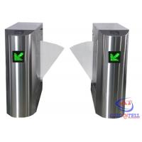 Quality Stainless Steel Retractable Flap Barrier Gate , Bi - directional Multi Access Control Turnstiles for sale