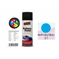 Quality OEM Available Removable Rubber Spray Paint Matt Sky Blue Color For Wheel for sale