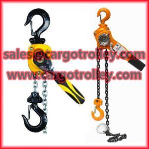 Quality Lever chain hoist advantages and details for sale