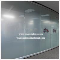 Buy cheap China 10mm Clear/Frosted/Etched/Sandblast/Printed Glass room dividers from wholesalers