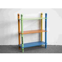 Quality 70CM Height Colorful Crayon Design 3 Layer Storage Shelves Toy Organizer for sale