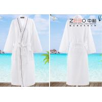 China Soft Plain Style Resort Hotel Style Bathrobes For Men 100% Cotton on sale
