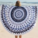 Quality Round Circle Beach Towel Microfiber Round Printed Tassel Beach Towel Cheap Beach Towel for sale