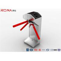 China Half Height Tripod Turnstile Gate 304 Stainless Steel Both Directional RFID Card Reader on sale