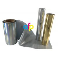 Buy Paper / Paperboard Holographic Film Roll , Metalized Silver / Gold Hot Foil at wholesale prices
