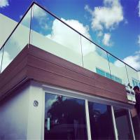 Buy cheap Aluminum U channel profile clear tempered glass railing for Balcony from wholesalers