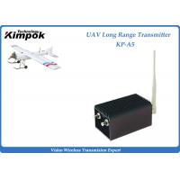 Quality 70km UAV Wireless Video Transmitter 1.2Ghz Analog Video Transmitter and Receiver 5W 8 Channels for sale