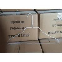 China White Coated 2.0mm Metal Wire Shirt Hangers , 500 Pcs / Carton Packing on sale