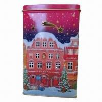 Quality Candle can for Christmas, made of 0.21mm tinplate for sale