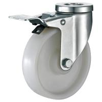 Quality Small Loackable Industrial Table Casters , White Nylon Caster Wheels for sale