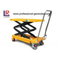 Quality 150KGS Double Scissor Lift Table CE 1.5 Ton Hydraulic Type Mobile With Rollers for sale