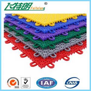 Quality PP Anti Aging Interlocking Rubber Floor Tiles Play Mat Flooring 2500N for sale