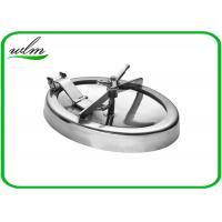 Buy cheap 304 316L Stainless Steel Manhole Cover Sanitary Elliptical Shape For Hygienic Tank Vessels from wholesalers