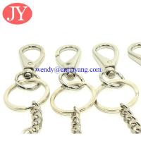 Quality Snap hook with key chain link zinc alloy key rings chains for sale