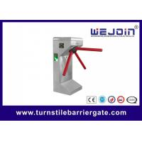 China Stainless Steel Price Tripod Turnstile Gate with QR Code Barcode Scanner on sale