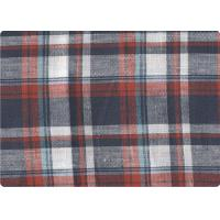 """Quality Professional Decorative Plaid Linen Upholstery Fabric 57"""" / 58"""" Width for sale"""