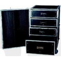 Quality Black 9mm Plywood / Rack Flight Case With Wheels For Audio And Keyboard for sale