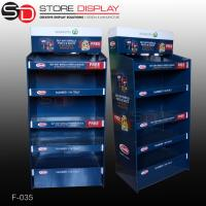 Quality pop food floor display stand/floor display stand shelf for sale