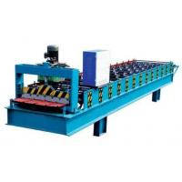 Quality Electronic Control Metal Roof Roll Forming Machine With Hydraulic Metal Cutter for sale