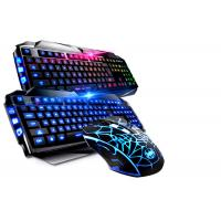 Korea Layout USB Gaming Keyboard Multimedia With Suspension Keycaps Aluminum Cover