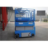 China Blue Color Portable Scissor Lift , Mid Rise Scissor Lift 110v 220v 240v 380v Voltage on sale