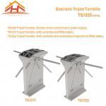 Quality Dual Lane Drop Arm Tripod Style Access Control Turnstile Fingerprint & RFID Reader for sale