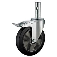 Quality Aluminium Swivel Scaffold Tower Wheels / Small Black 8 Scaffold Casters for sale