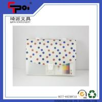Quality PP Plastic File Case With Hand Carring Expanding Wallets for sale