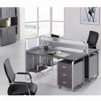 China Wooden Office Desk, Measures 1,080 x 1,200 x 1,444mm, Metal Frame made of Aluminum on sale