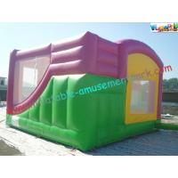 Hello Kitty Rent Inflatable Bouncer Slide , Castle With Slide For Childrens