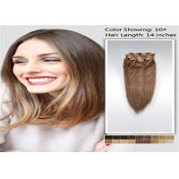 Quality 100% Raw 5A / 6A Clip In human Hair Extensions , Pro Bonded Indian Straight Hair for sale