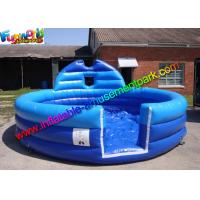 China Plato PVC Blue Inflatable Water Pools , Kids Soap Foam Pitch Custom Made on sale