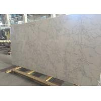 Quality Kitchen / Bathroom Quartz Stone Slab 200 - 240MPa Compress Strength for sale