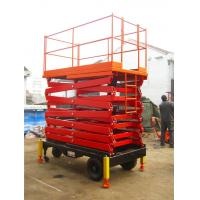 Fully Proportional Control Heavy Duty Scissor Lift Aerial Installation / Construction