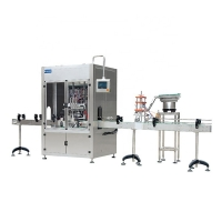 Quality SS316  Mayonnaise  Rotary Hot Sauce Bottle Filler With Conveyor for sale