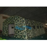 Quality Wind Resistant Camouflage Inflatable Tents Large For Military / Army SGS Approval for sale