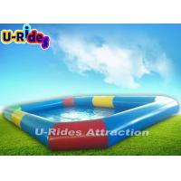 Quality 10M Long Blow Up Ring Swimming Pool / Rectangular Inflatable Kiddie Pool for sale